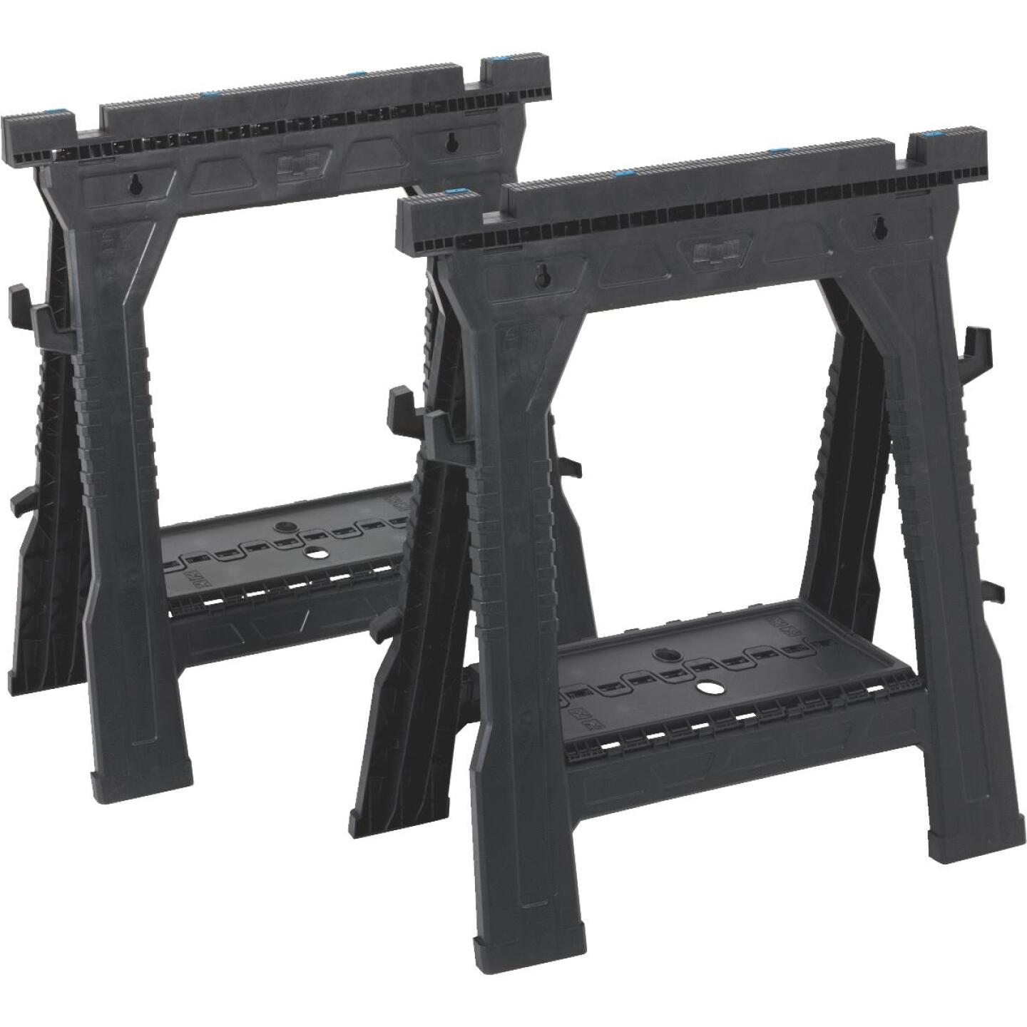 Channellock 27 In. L Plastic Folding Sawhorse Set, 1000 Lb. Capacity (2-Pack) Image 1