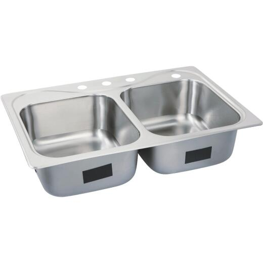 Sterling Southhaven Double Bowl Sink 8 In. Deep Stainless Steel