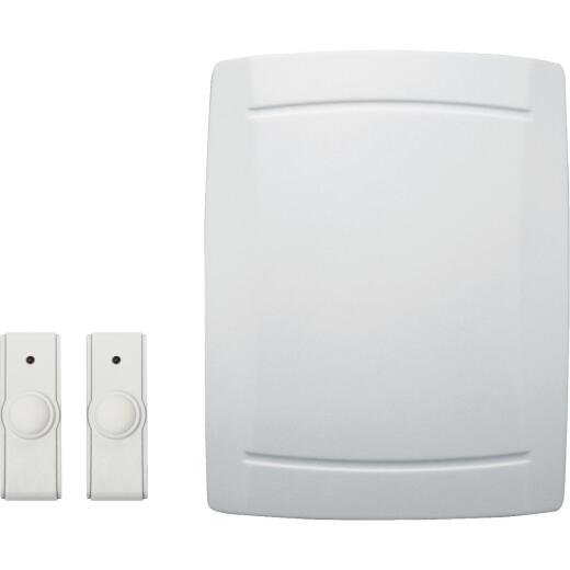 IQ America Step-Up Battery Operated Wireless Off-White Door Chime with 2 Push Buttons