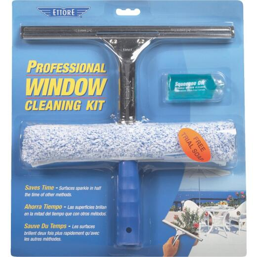 Ettore Rubber Window Cleaning Kit (3-Piece)