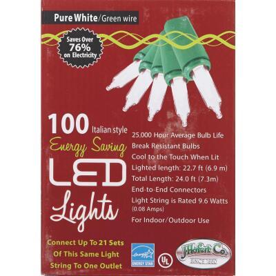 J Hofert Clear 100-Bulb Italian Style LED Light Set